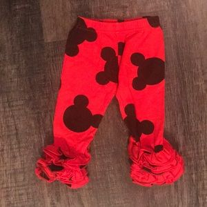 Other - Boutique Mickey Mouse ruffle leggings